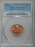 1971 1C Doubled Die Obverse, FS-101, MS65+ Red PCGS. PCGS Population: (22/6 and 1/1+). NGC Census: (4/2 and 0/0+). ...(P...