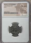 Ancients:Roman Provincial , Ancients: TROAS. Alexandria. Ca. 3rd century AD. AE 21 mm. NGCChoice AU, smoothing....