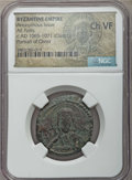 Ancients:Byzantine, Ancients: Anonymous. Class G (ca. 1065-1971). AE follis. NGC ChoiceVF....
