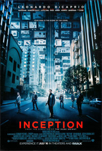 "Inception (Warner Brothers, 2010). One Sheet (27"" X 40""). DS Advance. Science Fiction"