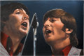 Music Memorabilia:Original Art, Beatles - Summer Tour '66 Original Oil Painting by Eric Cash....
