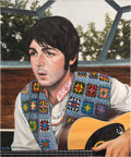 Music Memorabilia:Original Art, Beatles - Mother Nature's Son Original Oil Painting by Eric Cash....