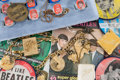 Music Memorabilia:Memorabilia, Beatles Group of Vintage Rings, Buttons, and Other Memorabilia (1960s)....