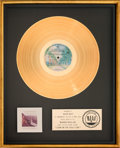 Music Memorabilia:Awards, Doobie Brothers Livin' On The Fault Line RIAA Gold RecordAward (WB Records BSK 3045, 1977). ...