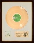 Music Memorabilia:Awards, Sergio Mendes & Brasil '66 Fool On The Hill RIAA WhiteMat Gold Record Sales Award (A&M SPX-4160, 1968). ...