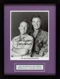 Music Memorabilia:Autographs and Signed Items, Righteous Brothers Signed Photograph (circa 1980s)....