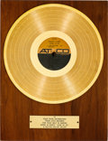 Music Memorabilia:Awards, Sonny And Cher Look At Us In-House Gold Sales Award (Atco,33-177, 1965)....