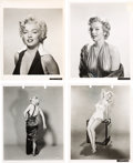 Movie/TV Memorabilia:Photos, A Marilyn Monroe Group of Black and White Publicity Photographs,Early 1950s.. ... (Total: 4 )