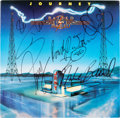 Music Memorabilia:Autographs and Signed Items, Journey Signed Raised On Radio Album (1986)....