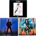 Music Memorabilia:Autographs and Signed Items, Steve Vai/Joe Satriani/Eric Johnson Signed Group (1980s/90s)....(Total: 3 Items)