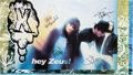 Music Memorabilia:Autographs and Signed Items, X Band-Signed Hey Zeus Poster (1993)....