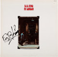 Music Memorabilia:Autographs and Signed Items, B.B. King Signed In London Album (1971)....