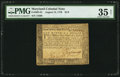 Colonial Notes:Maryland, Maryland August 14, 1776 $1/9 PMG Choice Very Fine 35 Net.. ...