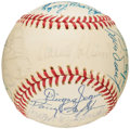 Autographs:Baseballs, 1975 Boston Red Sox Team Signed Baseball (27 Signatures). ...