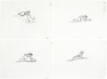 Animation Art:Production Drawing, Aladdin Animation Drawing Group of 8 (Walt Disney, 1992)....(Total: 8 Items)