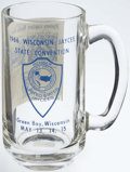 Football Collectibles:Others, 1966 Wisconsin Jaycee State Convention Green Bay Packers Glass. ...