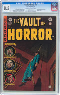 Golden Age (1938-1955):Horror, Vault of Horror #37 (EC, 1954) CGC VF+ 8.5 Cream to off-whitepages....