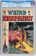 Golden Age (1938-1955):Science Fiction, Weird Science-Fantasy #28 (EC, 1955) CGC VF- 7.5 Cream to off-whitepages....