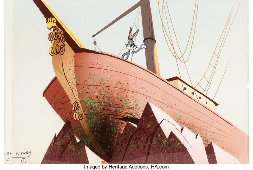 rabbitson crusoe painted background with bugs bunny presentation