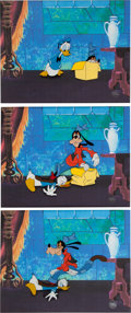 Animation Art:Production Cel, Donald Duck's 50th Birthday Donald Duck and Goofy Production Cel Sequenced Group of 3 (Walt Disney, 1984)....