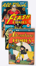 Golden Age (1938-1955):Miscellaneous, Comic Books - Assorted Golden Age Comics Group of 3 (Various Publishers, 1940s) Condition: Average FR.... (Total: 3 Comic Books)