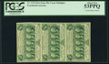 Fractional Currency:First Issue, Fr. 1312 50¢ First Issue Vertical Strip of Three PCGS About New53PPQ.. ...