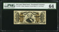 Fractional Currency:Third Issue, Fr. 1334 50¢ Third Issue Spinner PMG Choice Uncirculated 64.. ...