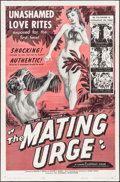 "Movie Posters:Sexploitation, The Mating Urge (Pat Patterson, 1959). One Sheet (27"" X 41"").Sexploitation.. ..."