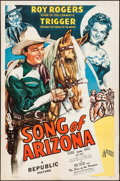 """Movie Posters:Western, Song of Arizona (Republic, 1946). One Sheet (27"""" X 41""""). Western.. ..."""