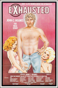 """Exhausted: John C. Holmes, the Real Story (Annazan, 1981). One Sheet (25"""" X 38""""). Adult"""