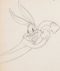 Animation Art:Production Drawing, Hare Ribbin' Bugs Bunny Animation Drawing (Warner Brothers,1944)....