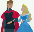 Animation Art:Production Cel, Sleeping Beauty Prince Phillip and Princess AuroraProduction/Color Model Cel (Walt Disney, 1959)....