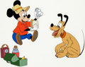 Animation Art:Color Model, The Simple Things Mickey Mouse and Pluto Color Model Cel(Walt Disney, 1953)....