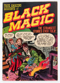 Golden Age (1938-1955):Horror, Black Magic #1 (Derby Publishing Co., 1950) Condition: FN....