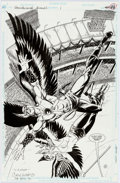 Original Comic Art:Splash Pages, Gary Kwapisz Hawkworld Annual #1 Splash Page 41 Original Art(DC, 1990)....