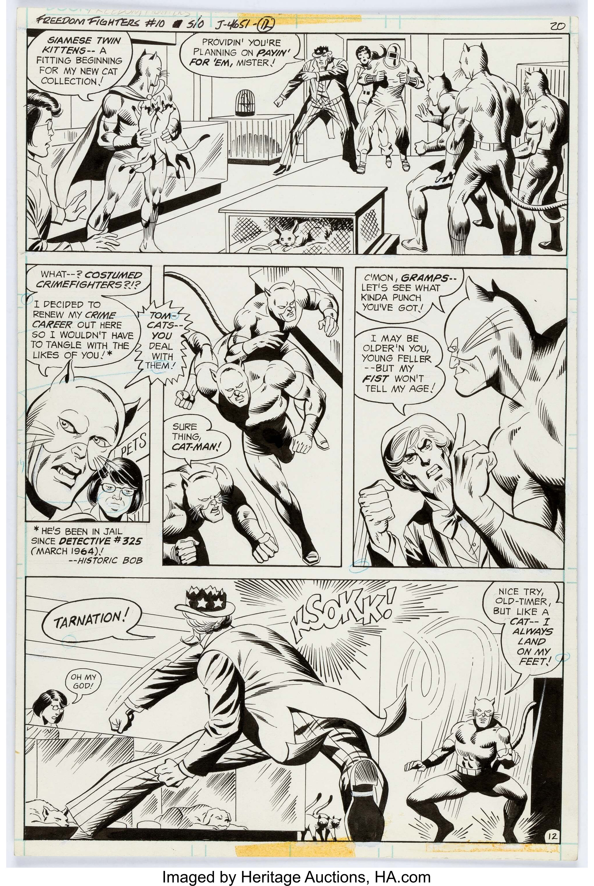 Dick Ayers and Jack Abel Freedom Fighters #10 Story Page 12