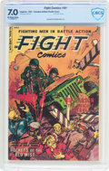 Golden Age (1938-1955):War, Fight Comics #84 Double Cover (Superior Comics, 1953) CBCS FN/VF7.0 Off-white to white pages....