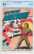 Golden Age (1938-1955):War, Captain Midnight #34 (Fawcett Publications, 1945) CBCS VF+ 8.5Off-white to white pages....