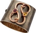 Estate Jewelry:Bracelets, Garnet, Citrine, Gold Bracelet. ...