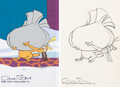 Animation Art:Production Cel, Doctor Seuss' How the Grinch Stole Christmas Max Production Cel and Animation Drawing (MGM, 1966). ... (Total: 4 Items)