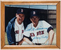 Baseball Collectibles:Photos, Ted Williams and Johnny Pesky Signed Photograph. ...