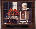 Autographs:Photos, Mickey Mantle Signed Photograph Plaque....