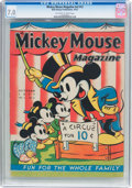 Platinum Age (1897-1937):Miscellaneous, Mickey Mouse Magazine V2#13 (K. K. Publications/Western PublishingCo., 1937) CGC FN/VF 7.0 Off-white to white pages....