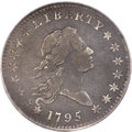 Early Half Dollars, 1795/1795 50C 3 Leaves, O-111, T-19, High R.4, Fine 15 PCGS....