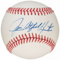 Autographs:Baseballs, Jim Catfish Hunter Single Signed Baseball, PSA/DNA NM-MT+ 8.5. ...