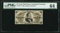 Fractional Currency:Third Issue, Fr. 1291 25¢ Third Issue PMG Choice Uncirculated 64.. ...