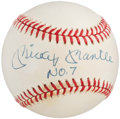 "Autographs:Baseballs, 1990's Mickey Mantle ""No. 7"" Single Signed Baseball. ..."