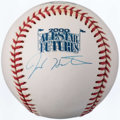 Autographs:Baseballs, Josh Hamilton Single Signed 2000 All-Star Futures Baseball. ...