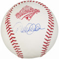 Autographs:Baseballs, 1996 World Series Derek Jeter Single Signed Baseball....