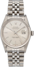 Estate Jewelry:Watches, Rolex Gentleman's Stainless Steel DateJust Watch, circa 1988. ...